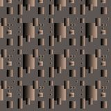 Seamless pattern, metal plates on brown background. The composition is made in the style of techno royalty free illustration
