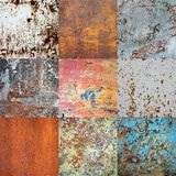 Seamless pattern. Metal rusty surface covered with cracked paint. Royalty Free Stock Photos