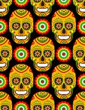 Pattern for mexican day of the dead. Seamless pattern for mexican day of the dead on black background Vector Illustration