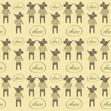 Seamless pattern with mice Royalty Free Stock Photos