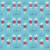 Seamless pattern with mice Stock Photography
