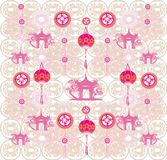 Seamless pattern with Mid-Autumn Festival for Chinese New Year. Vector Illustration Stock Photography