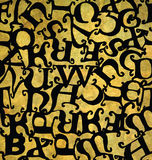 Seamless pattern with Middle Ages alphabet. Stock Image