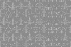 Seamless pattern with military airplanes 01 Royalty Free Stock Images