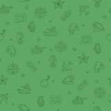 Seamless pattern of military icons Royalty Free Stock Image