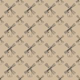 Seamless pattern with mill Stock Image