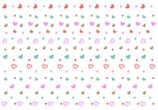 Seamless pattern with mini hearts and dots. royalty free illustration