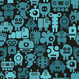 Seamless pattern with mini monsters Royalty Free Stock Photography