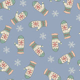 Seamless pattern with mittens Royalty Free Stock Photo