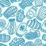 Seamless pattern with mittens Stock Photography