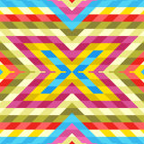 Seamless Pattern: Mix of Colorful Rhombuses Royalty Free Stock Photo