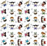 Seamless pattern mixed children Royalty Free Stock Photography