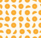 Seamless pattern mixed orange fruit background. Vector illustration Stock Photography