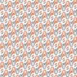 Seamless pattern of mobile phones. Vector illustration Royalty Free Stock Images