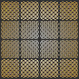 Seamless pattern. Modern geometric texture in grey - golden color. Repeating stylish tiles of squares Stock Images