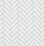 Seamless pattern with modern rectangular herringbone white tiles. Realistic diagonal texture. Vector illustration. Royalty Free Stock Photography