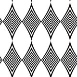 Seamless pattern. Modern stylish texture. Repeating geometric tiles with black and white striped rhombus. Stock Photo