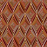 Seamless pattern. Modern stylish texture. Repeating geometric tiles with brown striped rhombus. Stock Images
