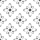 Seamless pattern of molecules Royalty Free Stock Photography