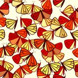 Seamless pattern with monarch butterflies Royalty Free Stock Photo