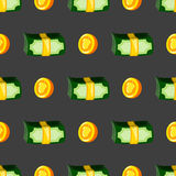 Seamless pattern with money Royalty Free Stock Photography