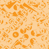 Seamless pattern with money royalty free illustration