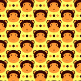 Seamless pattern with monkeys. Seamless pattern with cute monkeys vector illustration