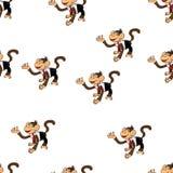 Seamless pattern with monkeys. Wallpaper. Symbol of 2016 year. Seamless pattern monkeys. Wallpaper, concept New Year 2016 Stock Image