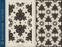 Seamless Pattern-monochrome 10 Royalty Free Stock Photos