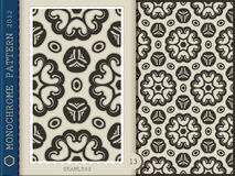 Seamless Pattern-monochrome 13 Stock Images