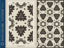 Seamless Pattern-monochrome 15 Stock Images