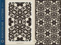 Seamless Pattern-monochrome 16 Stock Photography