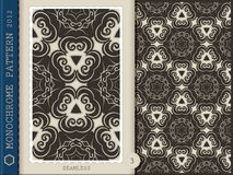 Seamless Pattern-monochrome 3 Royalty Free Stock Photos