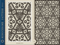 Seamless Pattern-monochrome 4 Stock Photography