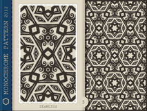 Seamless Pattern-monochrome 5 Stock Image