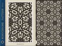 Seamless Pattern-monochrome 7 Royalty Free Stock Images