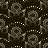 Seamless pattern monochrome art deco ornament with stylized geom Stock Image
