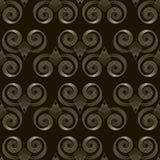 Seamless pattern monochrome art deco ornament with stylized geom Stock Image