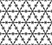 Seamless pattern, monochrome illustration of barbed wire Stock Image