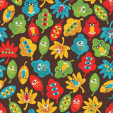 Seamless pattern with monsters. Stock Photo