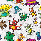 Seamless pattern with monsters Stock Photos
