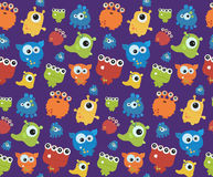 Seamless pattern with monsters. Print for Halloween. Stock Photo