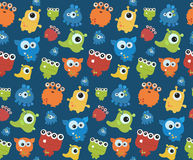 Seamless pattern with monsters. Print for Halloween. Stock Photography