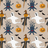 Seamless pattern with monsters. Print for Stock Photo