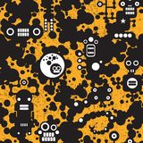 Seamless pattern with monsters. Royalty Free Stock Images