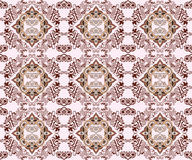 Seamless pattern in the Moorish style in burgundy pink tones Stock Photos