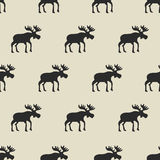Seamless pattern, moose. Vector background design for fabric and decor Royalty Free Stock Image