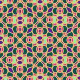 Seamless pattern of Moroccan mosaic Royalty Free Stock Photos
