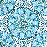 Seamless pattern of Moroccan mosaic stock illustration