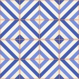 Seamless  pattern . Moroccan tiles, ornaments of blue stripes. Stock Photography